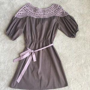 Esley detailed neck dress
